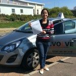 Sheetal Mokashi driving test pass