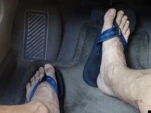 driving shoes flip flops