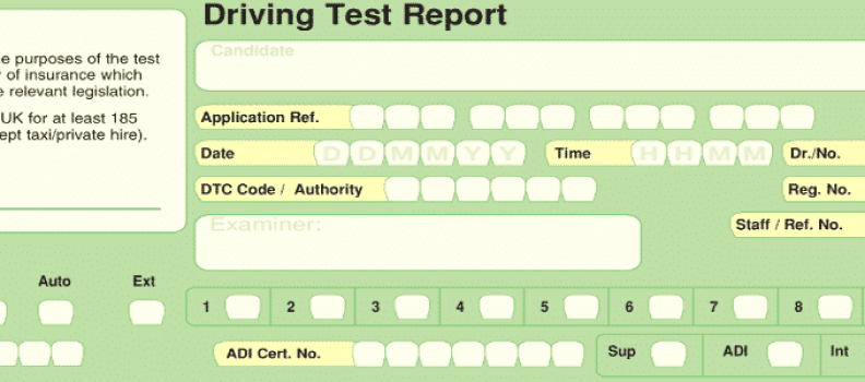 DRIVING TEST FAULTS. PASS OR FAIL?